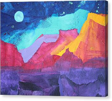 Moon Over Sedona Canvas Print by Nancy Jolley