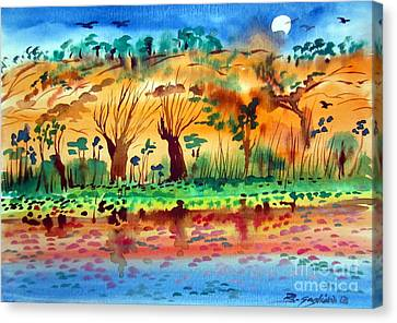 Moon Over The Kimberley Australia Canvas Print