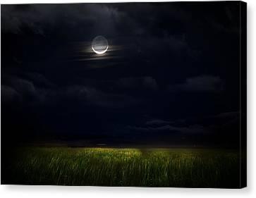 Beauty Mark Canvas Print - Goodnight Moon by Mark Andrew Thomas