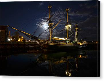 Moon Over The Salem Friendship Canvas Print by Toby McGuire