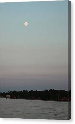 Moon Over Lake  Canvas Print by Ellen O'Reilly