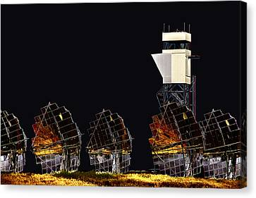 Moon Power Canvas Print by John Monteath