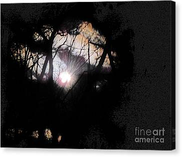 Moon Rays Canvas Print by Sharon Costa