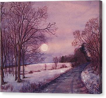Moon Rising Canvas Print by Joy Nichols