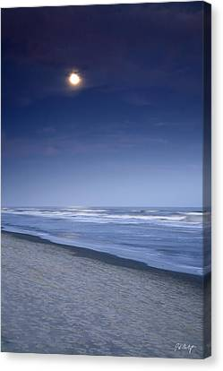 Moon Rising Over Hilton Head Canvas Print by Phill Doherty