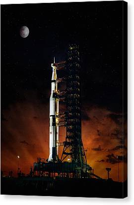 Moon Shot Canvas Print by Peter Chilelli