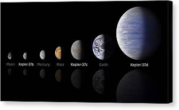 Moon Size Line Up Canvas Print by Movie Poster Prints