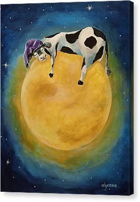 mOOn Snooze Canvas Print by Dyanne Parker