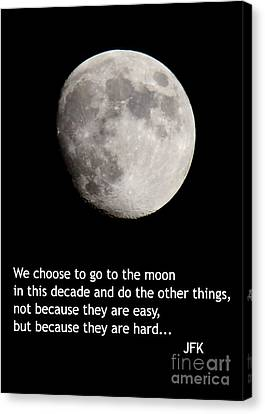 Moon Speech Canvas Print