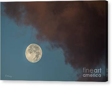 Moon Transition From Night To Day Canvas Print by Rene Triay Photography