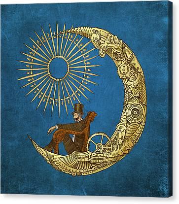 Celestial Canvas Print - Moon Travel by Eric Fan