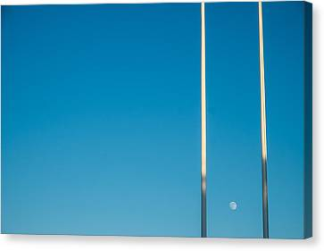 Moon Up Canvas Print