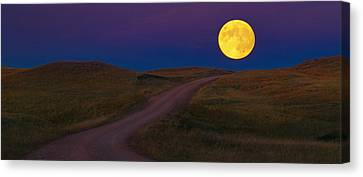Canvas Print featuring the photograph Moon Way by Kadek Susanto