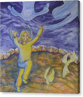 Moonchild - In Paradise Canvas Print by Jacquelyn Roberts