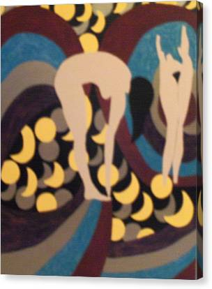Canvas Print featuring the painting Mooned by Erika Chamberlin
