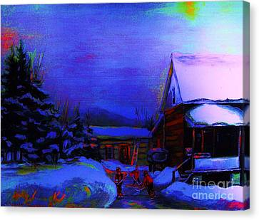 Moonglow On Powder Canvas Print by Carole Spandau