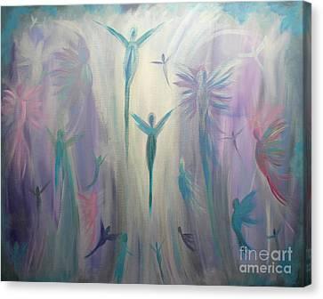 Moonlight Angels Canvas Print