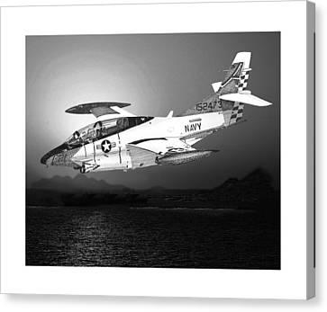 Moonlight Buckeye T 2c Training Mission Canvas Print by Jack Pumphrey