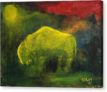 Moonlight Buffalo Canvas Print