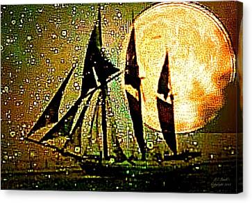 Moonlight Crossing IIi Canvas Print by Larry Lamb
