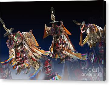 Canvas Print featuring the digital art Moonlight Dance by Angelika Drake