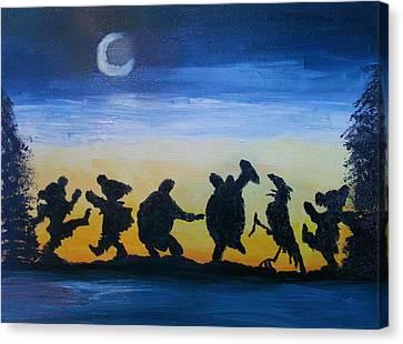 Moonlight Canvas Print - Moonlight Dance by Barbara Cole