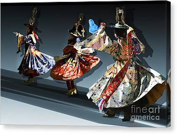 Canvas Print featuring the digital art Moonlight Dance Graphics by Angelika Drake