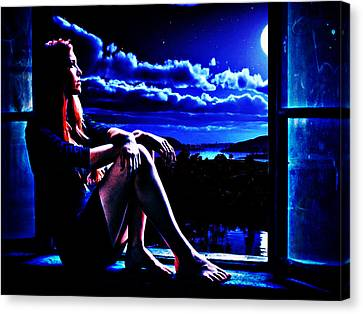 Moonlight Girl Canvas Print