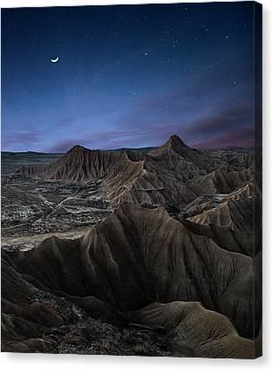 Universe Canvas Print - Moonlight by I?igo Cia