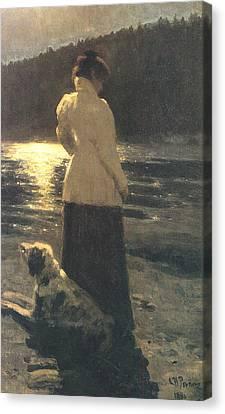 Moonlight Canvas Print by Ilya Repin