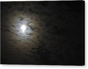 Canvas Print featuring the photograph Moonlight by Marilyn Wilson