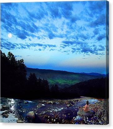 Moonlight Meditation Canvas Print by Ric Soulen