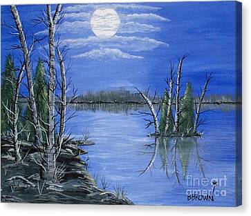 Moonlight Mist Canvas Print by Brenda Brown