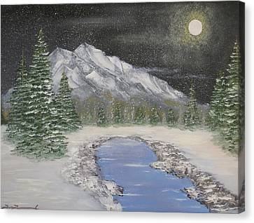 Moonlight Mountain Canvas Print by Tim Townsend