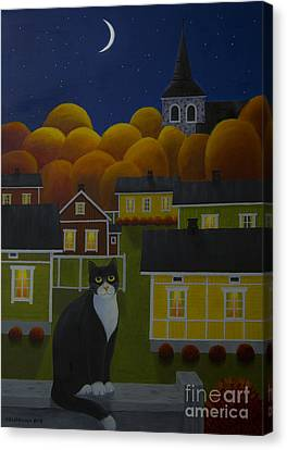 Harmonious Canvas Print - Moonlight Night by Veikko Suikkanen