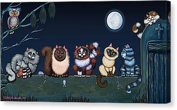 Moonlight On The Wall Canvas Print