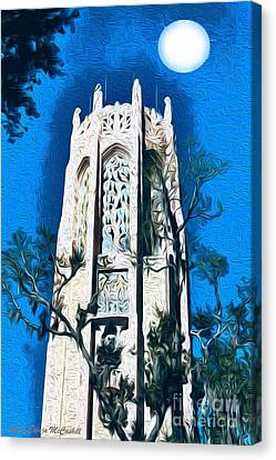 Bok Singing Tower Under The Moon Canvas Print by Ecinja Art Works