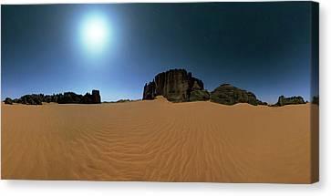 Moonlight Over The Sahara Desert Canvas Print by Babak Tafreshi
