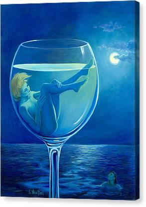 Moonlight Rendezvous Canvas Print by Sandi Whetzel