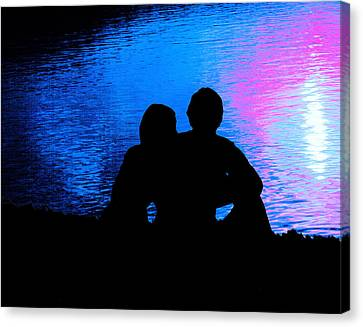 Canvas Print featuring the photograph Moonlight Romance by Mike Flynn