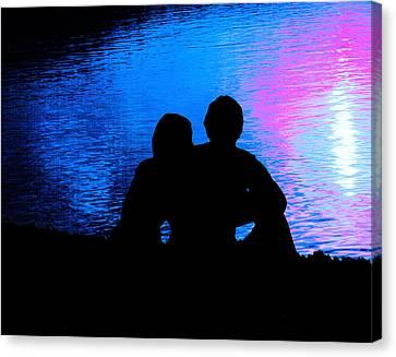 Moonlight Romance Canvas Print by Mike Flynn