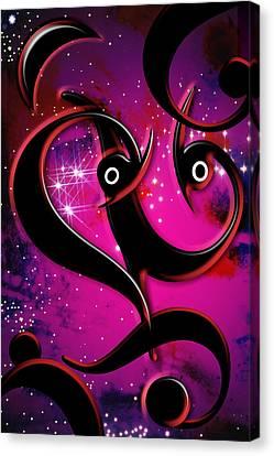 Canvas Print featuring the digital art Moonlight by Selke Boris