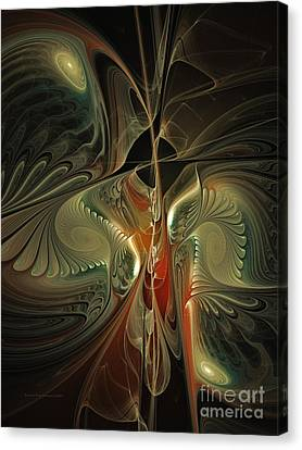 Moonlight Serenade Fractal Art Canvas Print