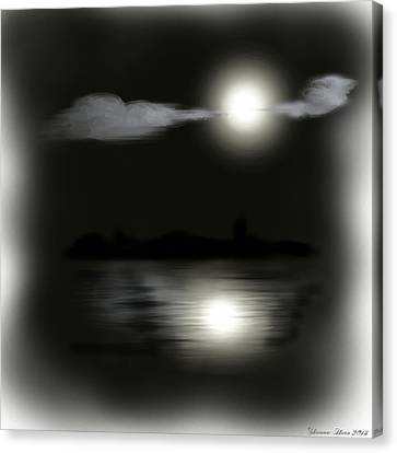 Moonlight Canvas Print by Shanna Hare