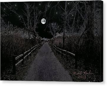 Moonlight Trail Canvas Print by Michael Rucker