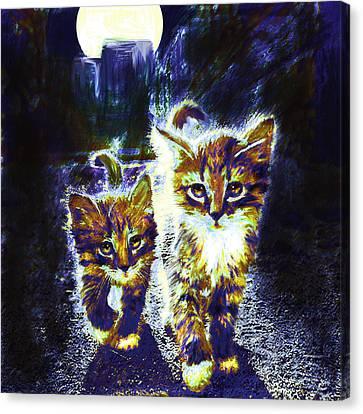 Moonlight Travelers Canvas Print by Jane Schnetlage