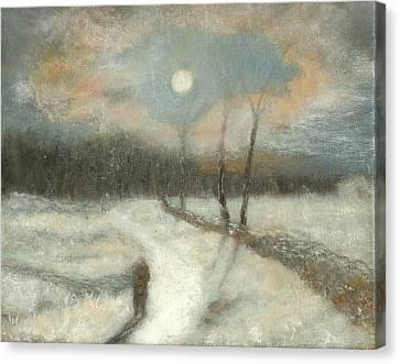 Moonlight Walk Home Canvas Print