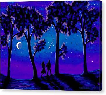 Moonlight Walk Canvas Print by Sophia Schmierer
