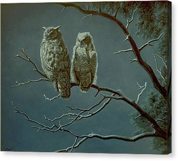 Moonlight Watchers Canvas Print
