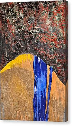 Moonlight Waterfall Canvas Print